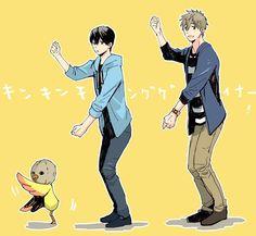Dancing together ... Free! - Iwatobi Swim Club, haruka nanase, haru nanase, haru, nanase, haruka, makoto tachibana, makoto, tachibana, free!, iwatobi