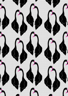 Black Swans Pattern by Georgiana Paraschiv