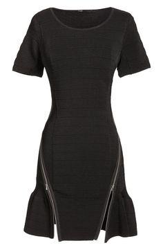 Black zip dress #black #gothic #style