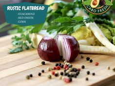 Flatbread with Guacamole, Oven Roasted Tomatoes, Corn and Red Onion  With #flatbreads such a popular appetizer, this tasty recipe will keep you ahead of the curve. Layer on your favorite Cabo Fresh Guacamole, top with the roasted tomatoes, corn, and onion, sprinkle on the cheese, and bake until the crust is golden brown. Click for the #recipe