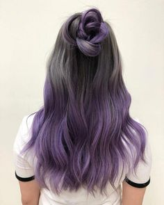 purple dip dye hair - hair styling- lila Dip Dye Haare – Haarstyling purple dip dye hair – hair styling check more at - Dyed Hair Purple, Dyed Hair Pastel, Dye My Hair, Purple Dip Dye, Dip Dye Hair Brunette, Pastel Dip Dye, Purple Grey Hair, Dyed Hair Ombre, Purple Ombre Hair Short