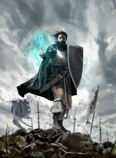 ArtStation - Krynea Battle wizard, David Benzal - W. Fantasy Warrior, Fantasy Wizard, Fantasy Battle, Fantasy Rpg, Medieval Fantasy, Fantasy Character Design, Character Concept, Character Art, Concept Art