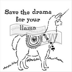 The Crafter's Workshop - Drama Llama Template - 12 Llama Drawing, Sunflower Mandala, Army Wallpaper, Drawing Templates, Unicorns And Mermaids, People Shopping, Online Craft Store, Art Store, Art Therapy