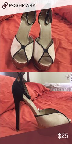 7745bee3e Shop Women s Forever 21 Black Tan size 7 Heels at a discounted price at  Poshmark. Description  Size 7 heels from forever 21 new never worn except  to try on.