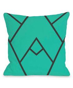 Turquoise Mountain Peak Outdoor Throw Pillow