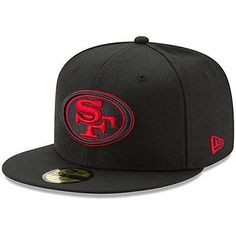 c7046719453 New Era San Francisco 49ers Black Alternate Logo Omaha 59FIFTY Fitted Hat -  NFL