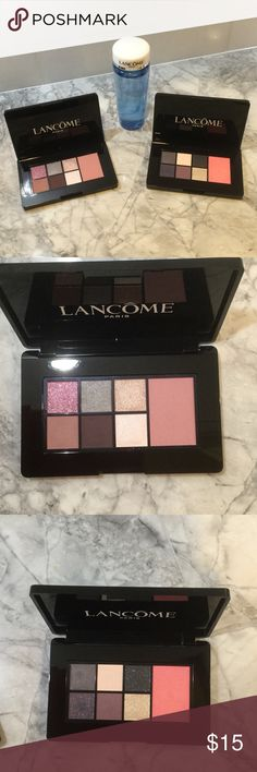 Brand new just out in stores Lancôme makeup Brand new just out in stores Lancôme color design eye shadows and blush palettes. Glam look day and night palettes. Also included is Lancôme Bi-Facial double action makeup remover Lancome Makeup
