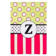 Evergreen Enterprises, Inc Reg, New Baskerville Peppy Monogram 2-Sided Garden Flag Monogram Letter: Z