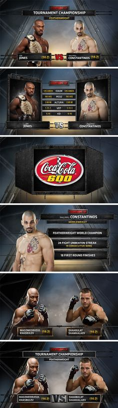 Combatche / in show graphics on Behance