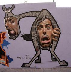 Graffiti de Belin e Jerom, Ibiza, 2009