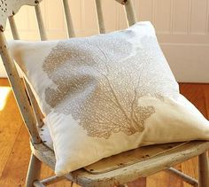 """i am wanting """"seasonal"""" sofa pillows. this is perfect for the summer rotation"""