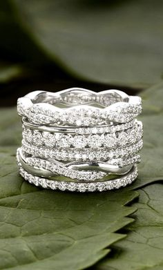 Diamond Wedding Band Timeless Stacking Wedding Rings For Your Eternal Love ❤︎ Jewelry Box, Jewelry Accessories, Jewellery, Jewelry Ideas, Women Accessories, Fine Jewelry, Timeless Wedding, Trendy Wedding, Brilliant Earth