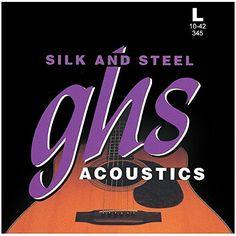 GHS Strings 345 Silk And Steel SilverPlated Copper Acoustic Guitar Strings Light 010042 *** Details can be found by clicking on the image.Note:It is affiliate link to Amazon. #Guitar