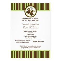 472361ff9f06 5x7 Brown Butterfly Birthday Party Invite Cumpleaños De Abejorro