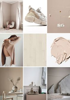 Dusty, powdery pink hues create a cosy yet fresh and light atmosphere in a home. When combined with Kährs Ash Air wood flooring, soft textiles and pampas grass or other dried wild flowers you will guarantee a romantic and weightless feeling in the room. Portfolio Design, Feeds Instagram, Instagram Design, Colour Pallette, Layout Design, Colour Board, Grafik Design, Pantone Color, Editorial Design