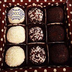 Orange, Black and Nutella Brigadeiros - made by Doce Saudade