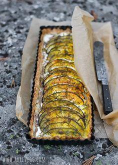 Eggplant tart make into individual sizes