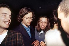 David Foster Wallace and Jonathan Franzen at the book launch for Infinite Jest, 1996. Photo by Marina Garnier.