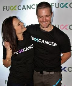 Stephen Amell and his wife Cassandra Jean at his FCancer Charity Event in Vancouver SHE IS SO PRETTY AND SEEMS AMAZING SHIPPPPPPPP