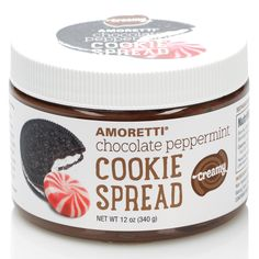 Chocolate & Peppermint Creamy Cookie Spread
