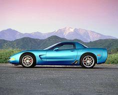2002 Corvette in Electron Blue