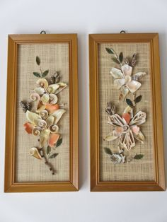 Reserved for Sandi - Vintage Sea Shell Art Wall Hangings