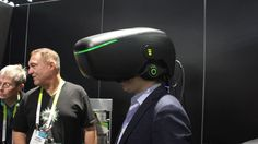 Billionaire Alki David is trolling CES with an insanely terrible VR helmet