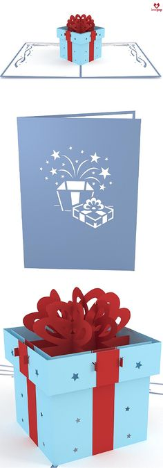 Gift a gift in a pop up card as the perfect happy birthday card! #sendlove #birthdaysurprise