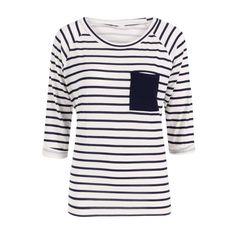 Nautical Stripe 3/4 Sleeve Top