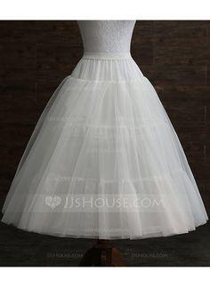 8b5b0518f66006  US  24.00  Girls Tulle Netting Taffeta 3 Tiers Petticoats (037120311)