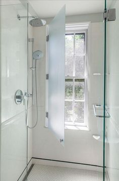 Bathroom Renovation Ideas: bathroom remodel cost, bathroom windows ideas for small bathrooms, small bathroom design ideas Bad Inspiration, Bathroom Inspiration, Upstairs Bathrooms, Master Bathroom, Simple Bathroom, Attic Bathroom, Small Bathrooms, Window In Shower, Window In Bathroom