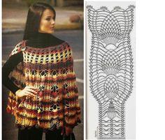 26 magníficos ponchos de ganchillo/crochet