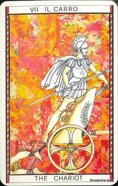 VII. The Chariot - Tarocco Mitologico by Amerigo Folchi