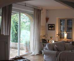 Photo Deco : Salon  Blanc  Nature   Bastide authentique nature lin beige