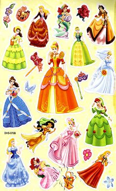 Photo of Disney Princesses Stickers for fans of Disney Princess. Someone Make Icons of These! They're so pretty.
