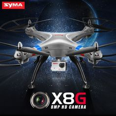 Info Price US $139.90 SYMA X8G Drone RC Quadcopter RTF RC Helicopter 2.4G 4CH 6 Axis With 8MP Wide Angle HD Camera 360 Degree Rotating Christmas Gift  #drone #quadcopter #helicopter #angle #camera #degree #rotating #christmas