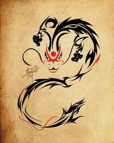 Tribal Dragon Tattoos | Tribal Dragon tattoo design ideas