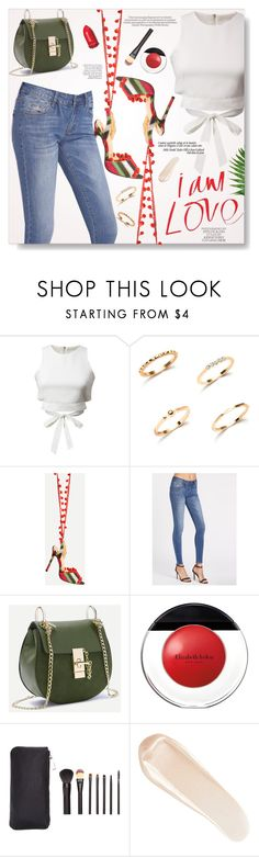 """..."" by yexyka ❤ liked on Polyvore featuring WithChic, Elizabeth Arden, NARS Cosmetics and Garance Doré"