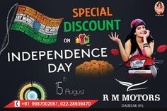 Freedom in the Mind, Faith in the words, Pride in our Souls. Visit RM Motors & Grab the exciting offers on Independence Day!!  #RMMotors #Bike #Bikers #Biking #Ride #Riders #Riding #Offers #Festival #Dealer #Deal #Dealing #FestivalOffers