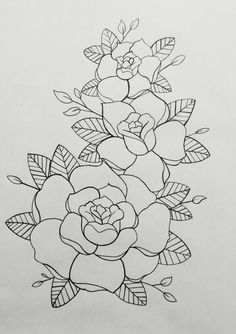 Embroidery Flowers Pattern, Hand Embroidery Designs, Embroidery Stitches, Pencil Drawings Of Flowers, Art Drawings Sketches Simple, Colouring Pages, Coloring Books, Mehndi Art Designs, Fabric Painting