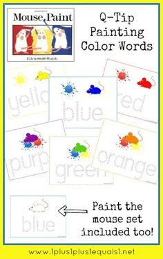 Mouse Paint Printables