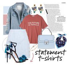 """The Future Is Female"" by karolinapl ❤ liked on Polyvore featuring Tory Burch, StyleNanda, Balmain, Dolce&Gabbana, Aquazzura and Poppy Finch"