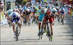 ドーフィネ第1ステージは、終盤に逃げに乗ったエヴァンスがそのままスプリントを制して勝利。あの展開で逃げきるとは思わなかったなー。