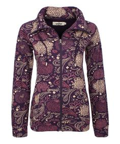 Love this Plum Paisley Zip-Up Jacket by Usha on #zulily! #zulilyfinds