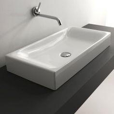 """WS Bath Collections Cento 3556 Vessel Bathroom Sink 27.6"""" x 13.8"""""""