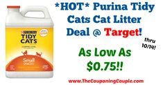 Awesome deal, Do NOT Miss out!!!! *HOT* Purina Tidy Cats Cat Litter Deal @ Target!  Click the link below to get all of the details ► http://www.thecouponingcouple.com/hot-purina-tidy-cats-cat-litter-deal-target/ #Coupons #Couponing #CouponCommunity  Visit us at http://www.thecouponingcouple.com for more great posts!