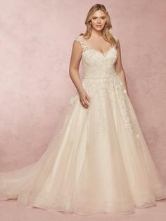 Maggie Bridal by Maggie Sottero This classic wedding dress offers additional coverage to our Macey style. Shimmering lace motifs cascade over tulle, accenting the illusion Designer Wedding Dresses, Bridal Dresses, Bridesmaid Dresses, Prom Dresses, Wedding Attire, Wedding Gowns, Mikaella Bridal, Bridal Gallery, Curvy Bride