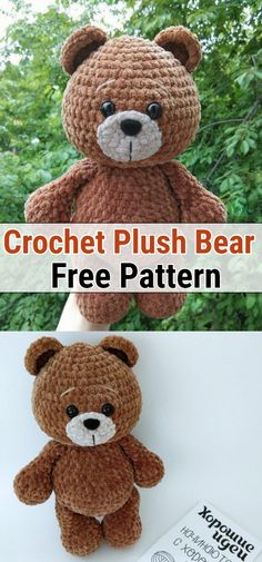 Free Crochet Bear Patterns,Bear Amigurumi Crochet Pattern-I have rounded up a huge list of free crochet teddy bear patterns for you to get inspired by these cute and soft teddy bears. You could absolutely make them with your own crochet hooks. Crochet Teddy Bear Pattern Free, Teddy Bear Patterns Free, Crochet Hippo, Animal Knitting Patterns, Crochet Dolls Free Patterns, Stuffed Animal Patterns, Amigurumi Patterns, Free Crochet, Crochet Hooks