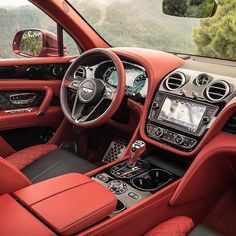 The new Bentley Bentayga Diesel also features a seven seat configuration option. Interior colour: Beluga and Fireglow hide