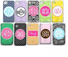 monogram phone covers